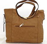 Вместительная женская сумка . Эко-кожа. Молочная, фото 6