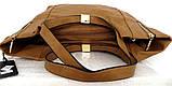 Вместительная женская сумка . Эко-кожа. Молочная, фото 9