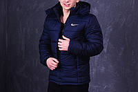 Куртка зимняя, мужская, идеально для зимы, Nike темно-синий