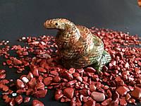 Статуэтка из натурального камня. Змейка. (змеевик)