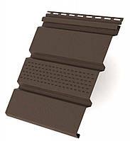 Панель RainWay коричневая частично перфорированная
