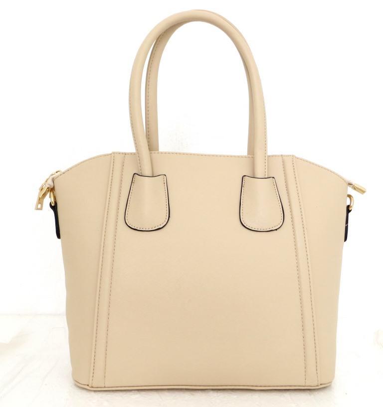 Стильная женская сумка. Эко-кожа Италия Бежевая