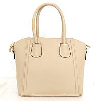 Стильная женская сумка. Эко-кожа Италия Бежевая, фото 1