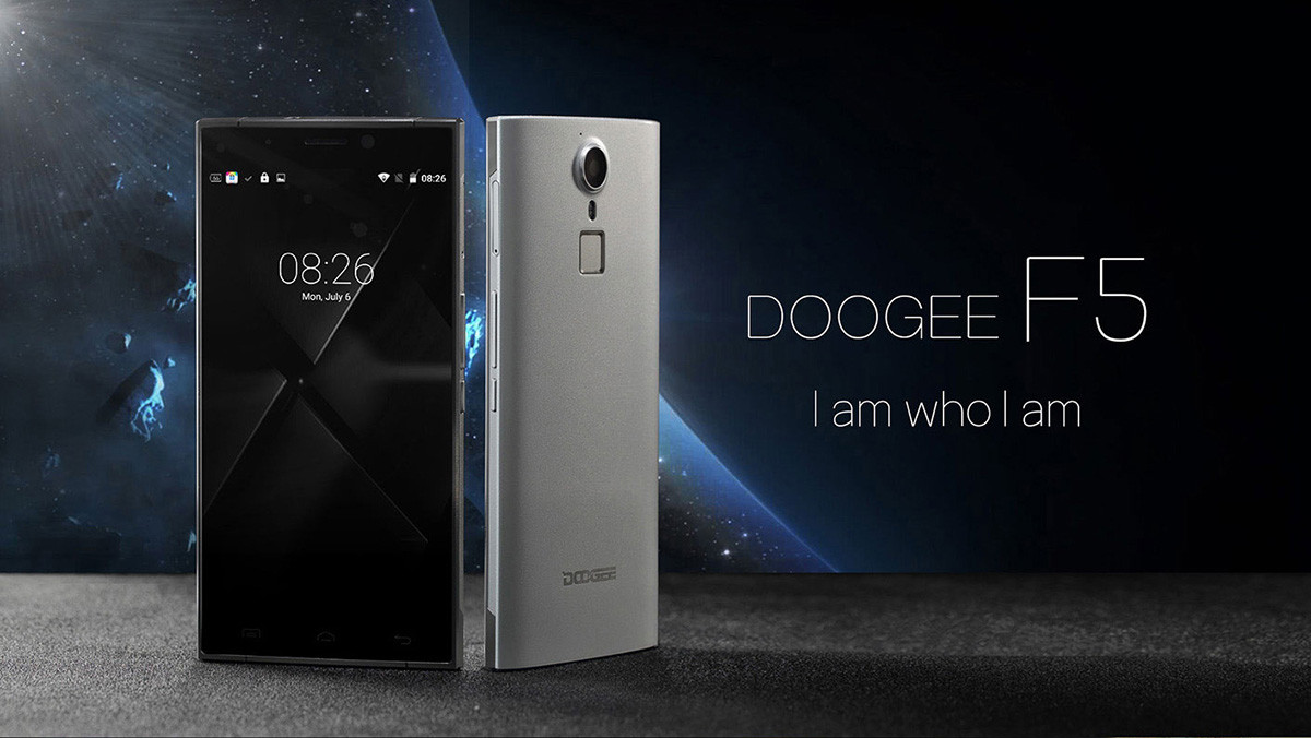 Смартфон Doogee F5, 3/16Gb, 13/5Мп, 8 ядер, 2sim, 4G, экран 5,5 IPS, 3000mAh, Android 5.1, GPS