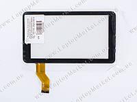 """Тачскрин (сенсорное стекло) для планшета 7"""" 362-A, (NJG070099JEG06-V0), 186*105, 30pin, black"""