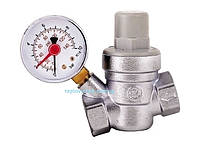 Регулятор вхідного тиску води з манометром D1/2
