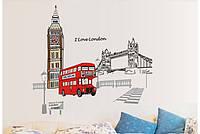 Наклейка виниловая Лондон 3D декор
