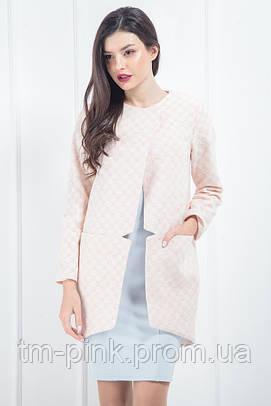 """Пальто Сніжинка """"Soft"""" рожевий"""