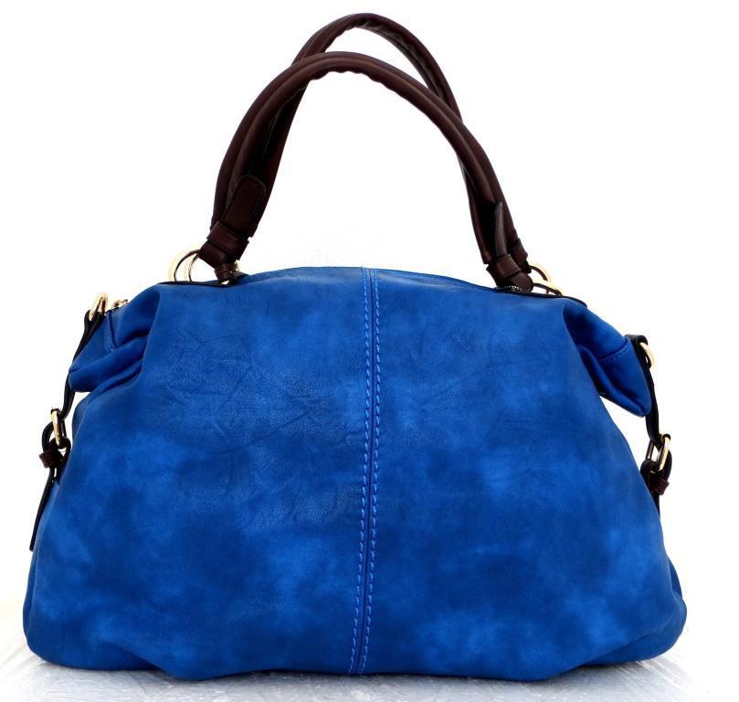 Вместительная женская сумка Эко-кожа  Синяя