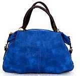 Вместительная женская сумка Эко-кожа  Черная, фото 6