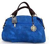 Вместительная женская сумка Эко-кожа  Черная, фото 7