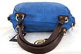 Вместительная женская сумка Эко-кожа  Черная, фото 10