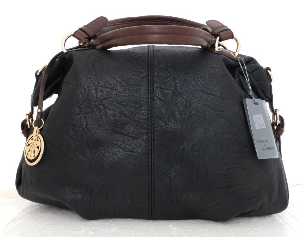 Вместительная женская сумка Эко-кожа  Черная