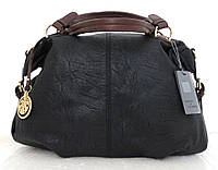 Вместительная женская сумка Эко-кожа  Черная, фото 1