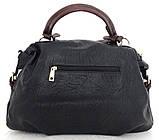 Вместительная женская сумка Эко-кожа  Черная, фото 2