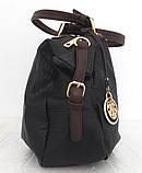 Вместительная женская сумка Эко-кожа  Черная, фото 3