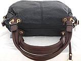 Вместительная женская сумка Эко-кожа  Черная, фото 5