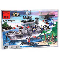 Детский конструктор военный корабль 820