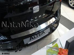 Накладка на задний бампер Seat Altea с -2004 г.