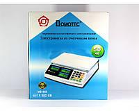 Весы для розничной торговли ACS 50 кг MS-968 Domotec : 6V аккумулятор, корпус металл, тарирование