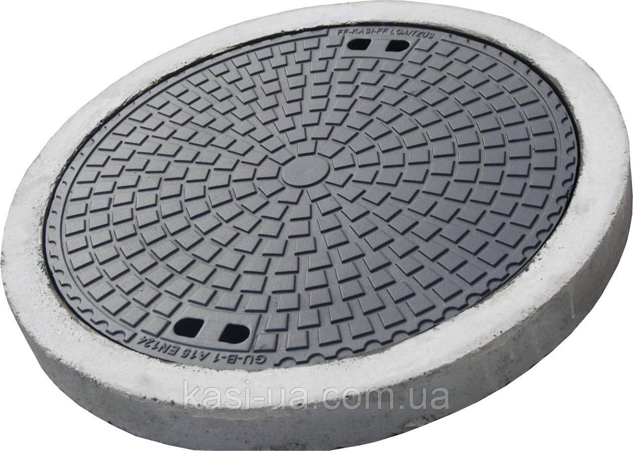 Люк канализационный легкий KASI тип Л (А15) KА02 (Чехия)