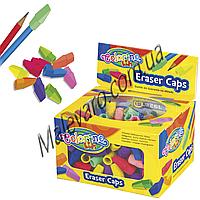Ластик-колпачек на карандаш, микс цветов