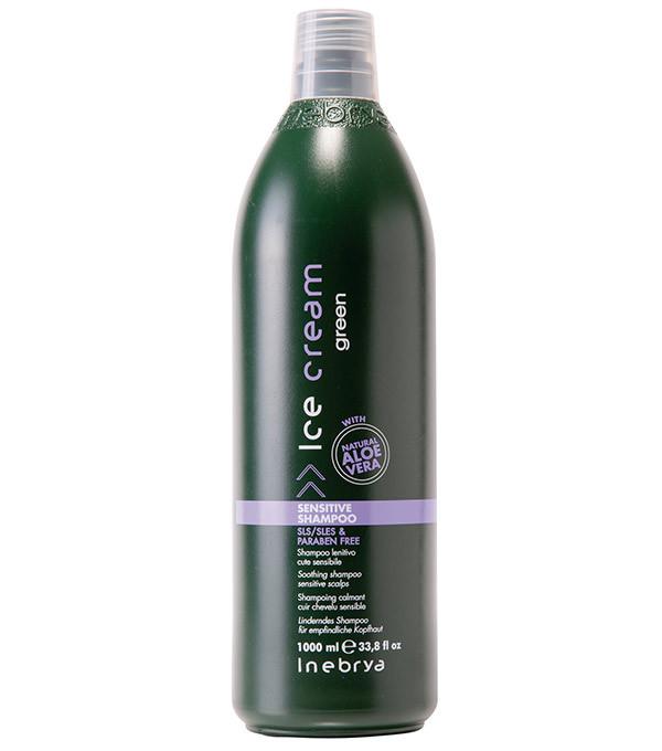 Inebrya Ice Cream Sensitive Шампунь успокаивающий для чувствительной кожи головы 1000 мл.
