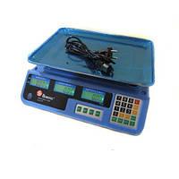 Весы для торговли ACS 50kg MS 987 Domotec 6V: шаг 5 г, тарирование, память цен, 2 дисплея, подсветка
