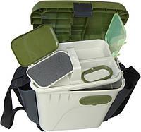 Ящик пластиковый для зимней рыбалки 1870-К с мягкой накладкой до 130 кг.