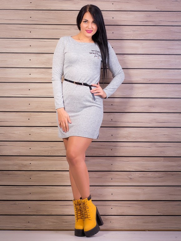 Елегантне плаття, колір: світло-сірий меланж