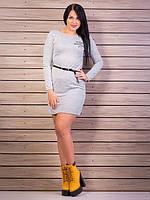 Элегантное платье, цвет: светло-серый меланж