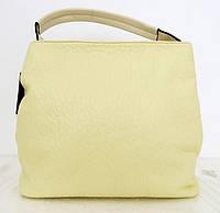 Вместительная женская сумка - мешок. Эко-кожа. Молочный, фото 1
