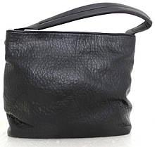 Вместительная женская сумка - мешок. Эко-кожа. Черная