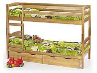 Кровать двухэтажная детская HALMAR SAM ольха
