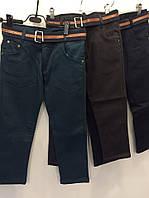 Джинсы на флисе цветные р.5,6,7лет