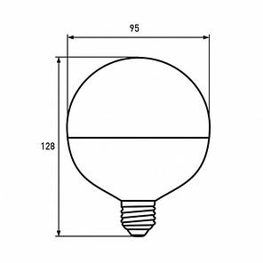 "EUROLAMP LED Лампа ЕКО серія ""D"" G95 15W E27 3000K, фото 2"