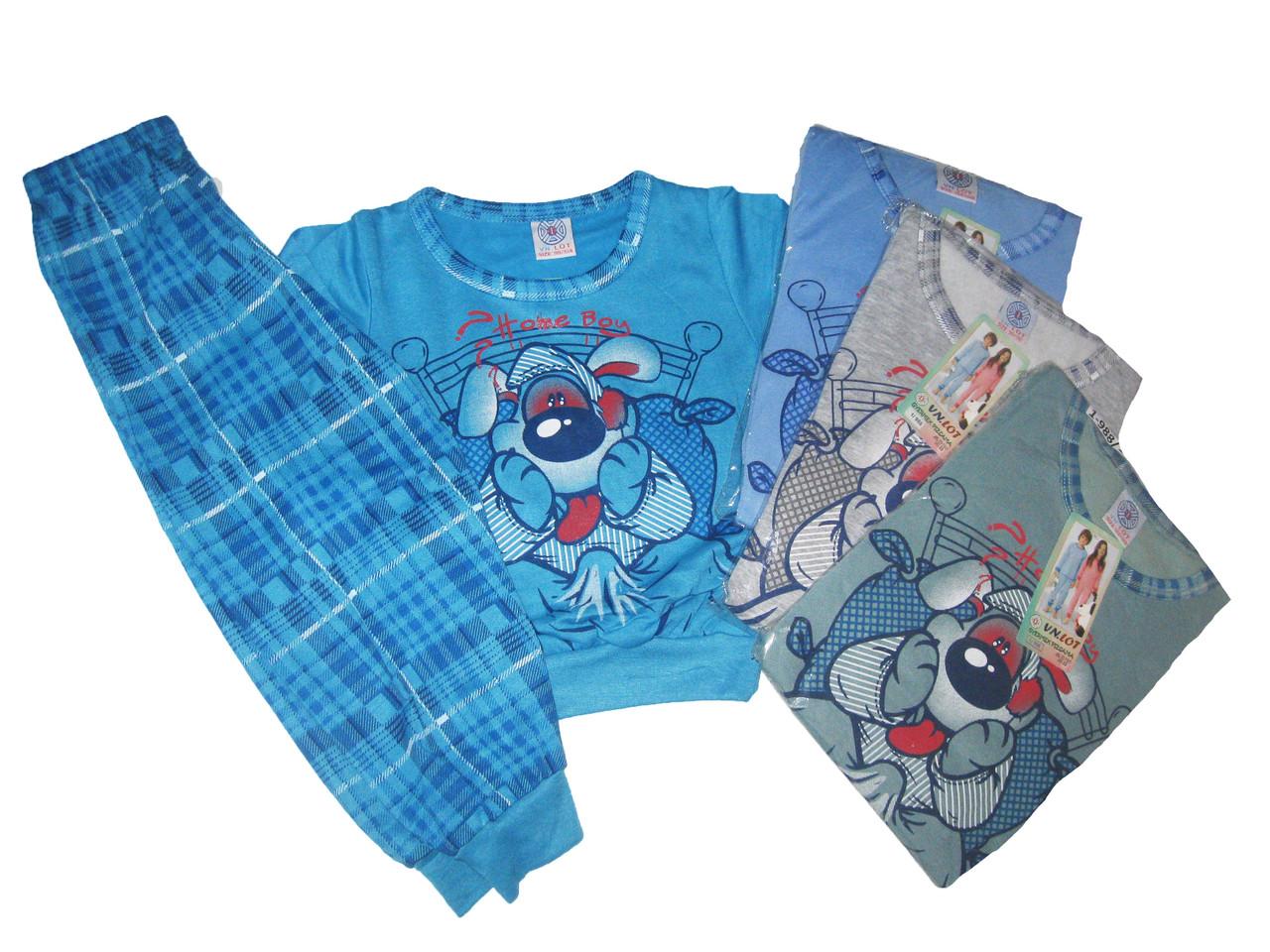 Пижама трикотажная с начёсом для мальчиков, размеры 98/104-134/140,  арт. 1/988