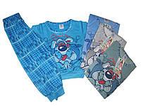 Пижама трикотажная с начёсом для мальчиков, размеры  122/128  арт. 1/98