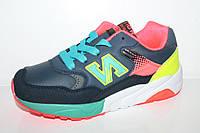 Кроссовки оптом для подростков. Спортивная обувь для девочек от фирмы Kellaifeng 1831A-4 (8пар 32-37)