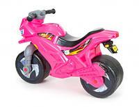 Детский двухколесный мотоцикл Орион 501в.3_Р с сигналом ярко-розовый