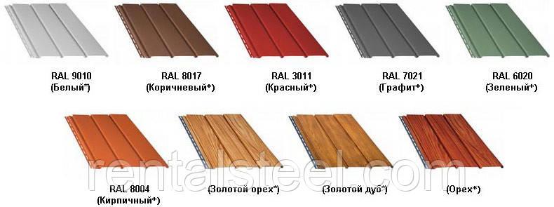Панель Bryza цвет: коричневый, красный, графит, зелёный, кирпичный