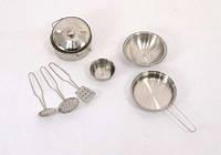 Металлический набор игрушечной посуды 556-6 в кульке
