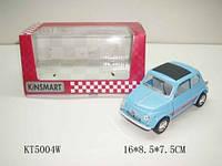 Kinsmart fiat 500, метал, инерц., в кор. 16х8х7 /96-4/