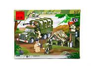 Детский конструктор brick 811 Военный грузовик 308 деталей в коробке 34*26*5 см