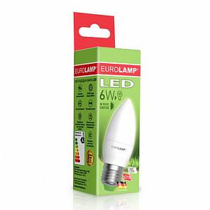 "EUROLAMP LED Лампа ЕКО серія ""D"" CL 6W E27 3000K, фото 2"