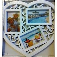 Коллаж 3 фотографий «любовное сердце»
