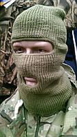 Шапка-балакалава Rais, шапка-маска вязанная, фантамаска, хаки, фото 1