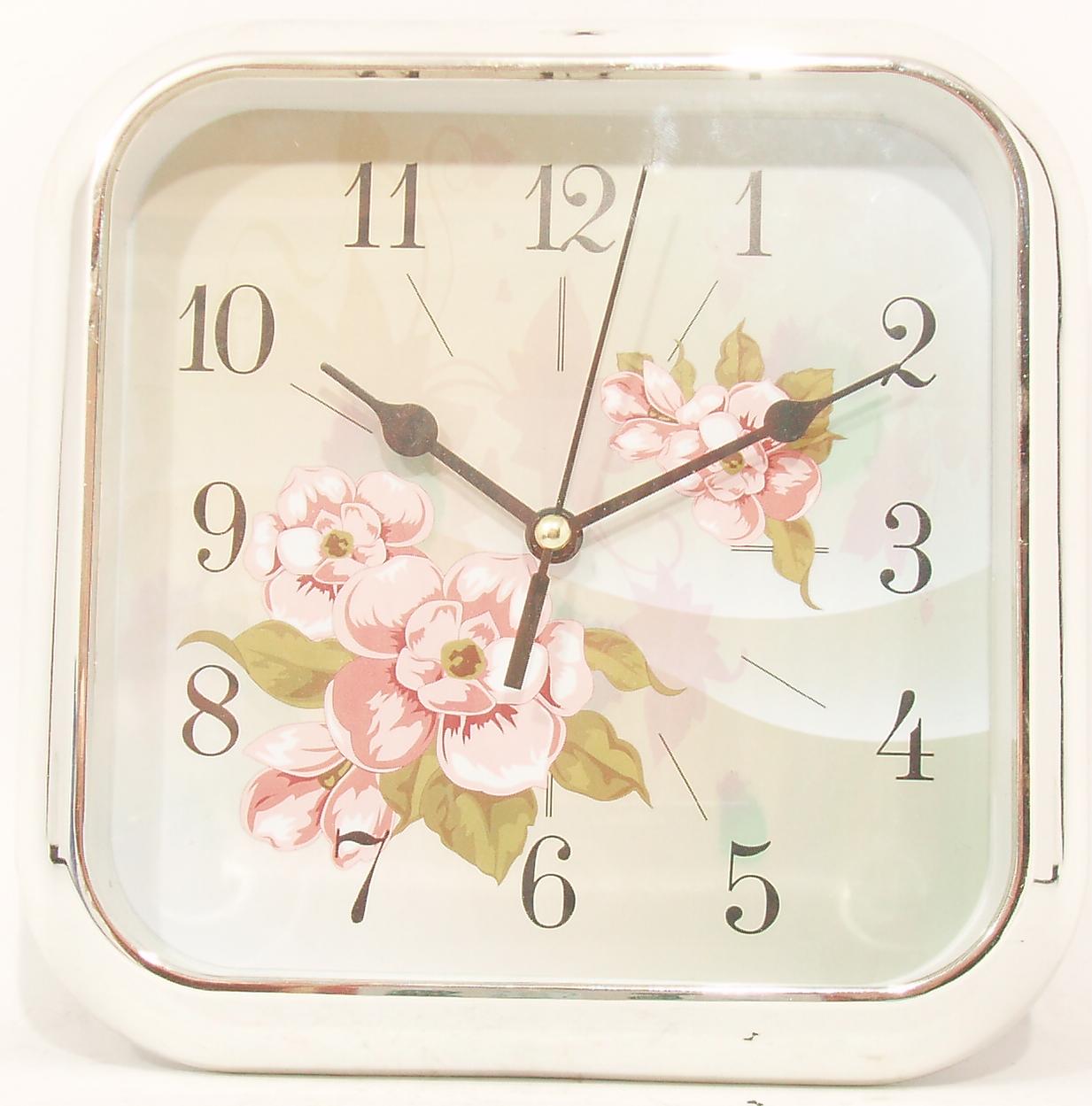 Часы настенно-настольные цветы