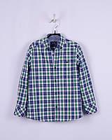 Рубашка в сине-зеленую клетку