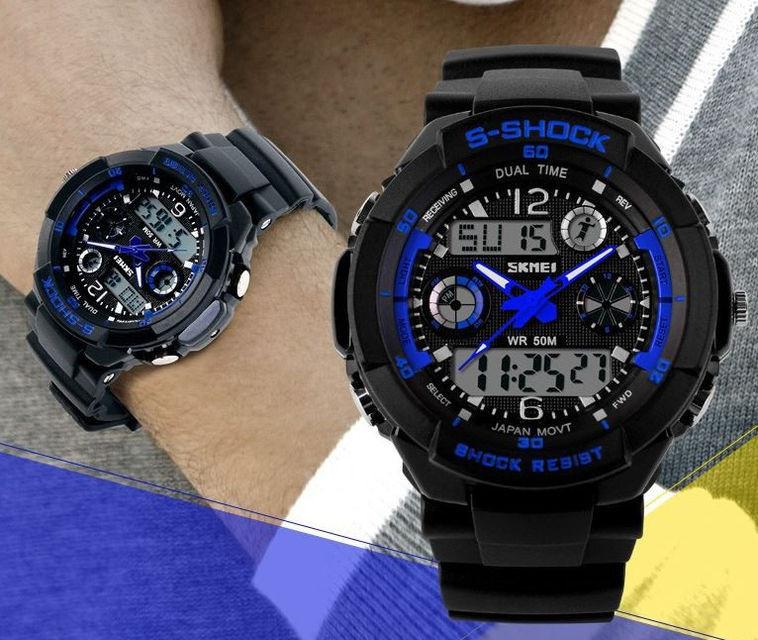 Часы мужские Skmei 1016 в наличии 3 цвета!